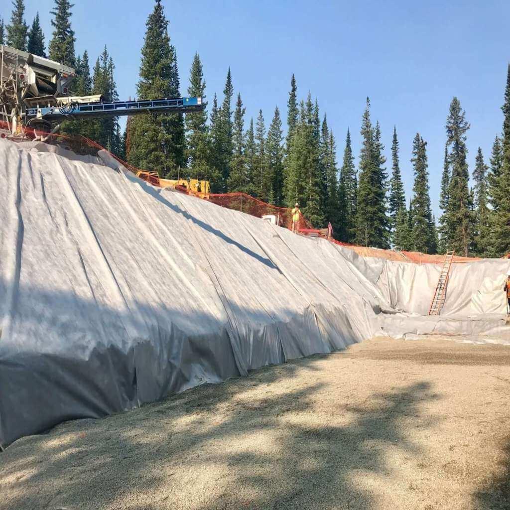 Pea gravel backfill in Copper Mountain