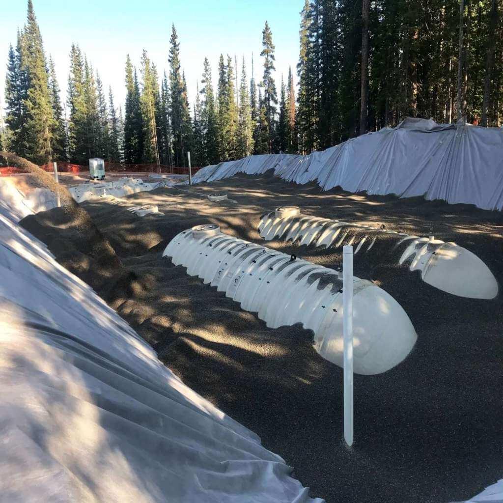 Fuel tank backfill at Copper Mountain Ski Resort