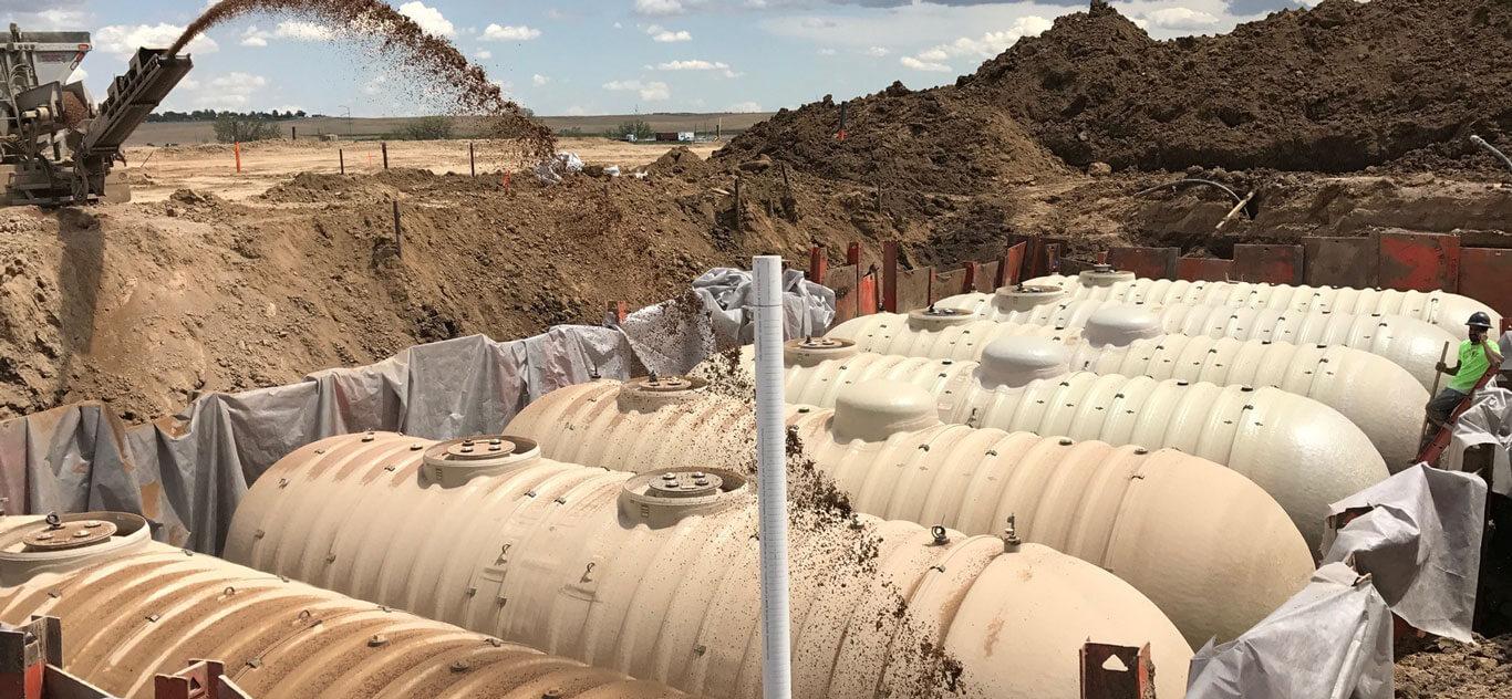 Underground tank backfill in Northern Colorado