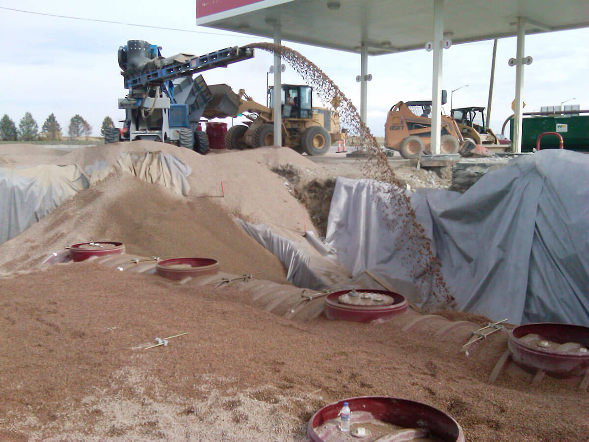 Backfill with a slinger truck in Northern Colorado